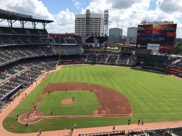 Suntrust Park, section: 420, row: 1, seat: 13