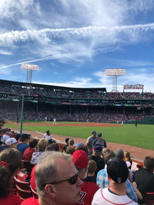 Fenway Park, section: Right Field Box 7, row: E, seat: 14