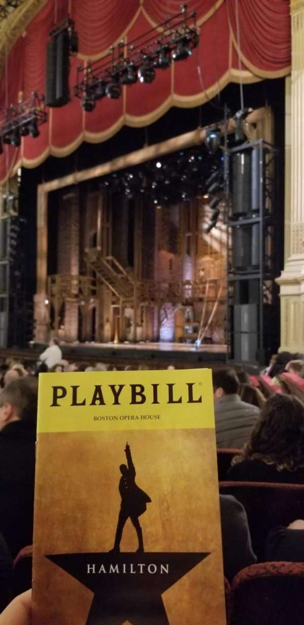 Boston Opera House, section: Orchestra Right, row: L, seat: 40
