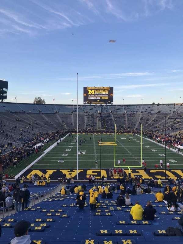 Michigan Stadium, section: 13, row: 58, seat: 20