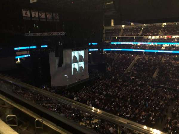 Prudential Center, section: 129, row: 1, seat: 3
