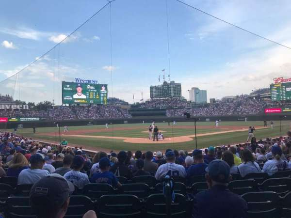 Wrigley Field, section: 121, row: 8