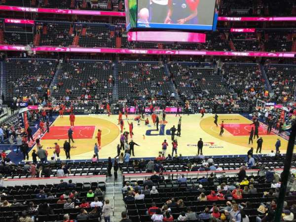 Capital One Arena, section: 214, row: A, seat: 16