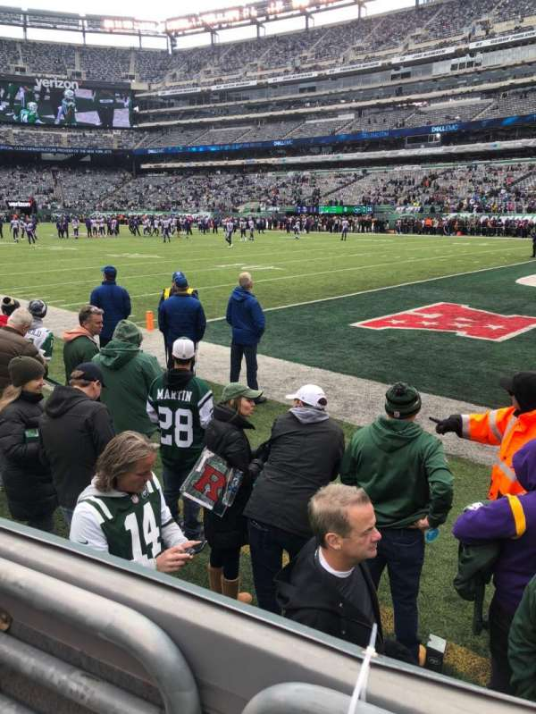 MetLife Stadium, section: 108, row: 2, seat: 1