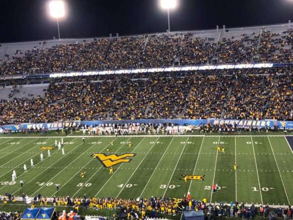 Mountaineer Field, section: 219, row: 31, seat: 113