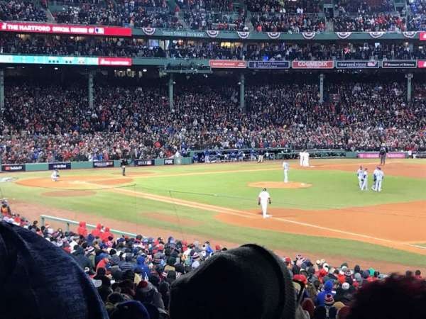 Fenway Park, section: Grandstand 11, row: 5, seat: 10