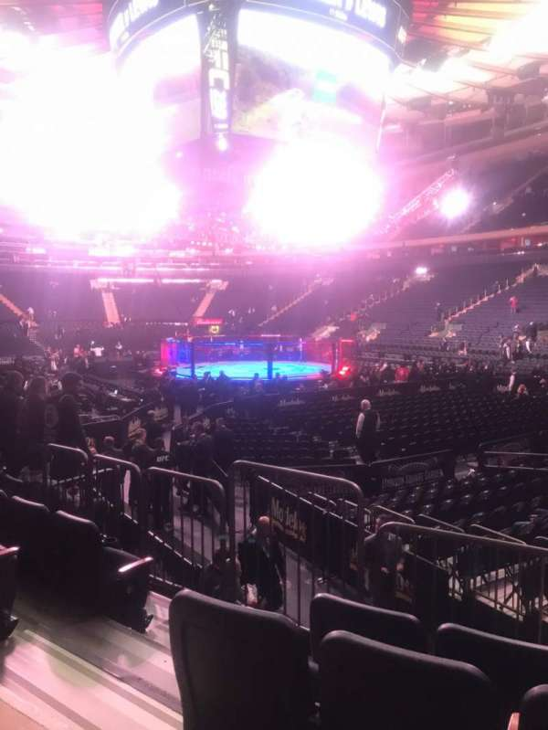 Madison Square Garden, section: 110, row: 7, seat: 3