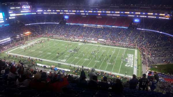 Gillette Stadium, section: 306, row: 20, seat: 8