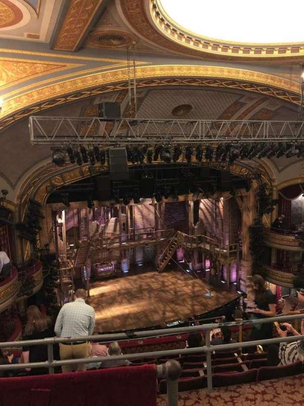 Richard Rodgers Theatre, section: Mezzanine Rear Left, row: B, seat: 15