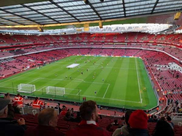 Emirates Stadium, section: Clock end, row: 18, seat: 850