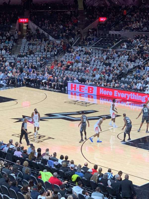 AT&T Center, section: 118DA, row: 26, seat: 6
