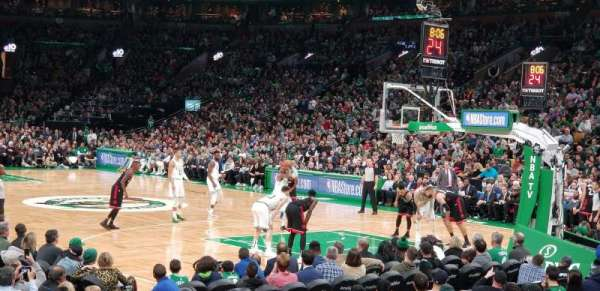 TD Garden, section: Loge 9, row: 7, seat: 6