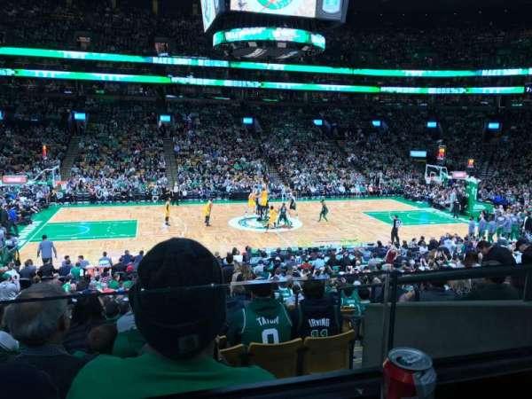 TD Garden, section: Club 113, row: AA, seat: 1