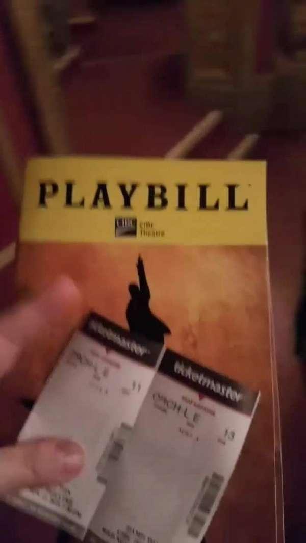 CIBC Theatre, section: Orchestra Left, row: E, seat: 13