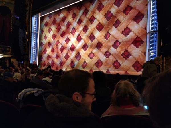 Brooks Atkinson Theatre, section: Orchestra R, row: G, seat: 12