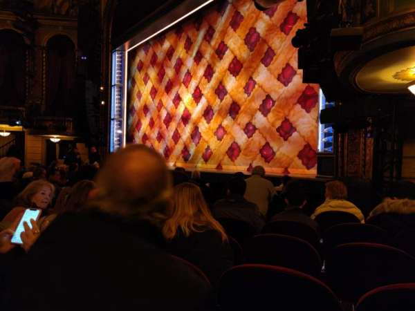 Brooks Atkinson Theatre, section: Orchestra R, row: G, seat: 22