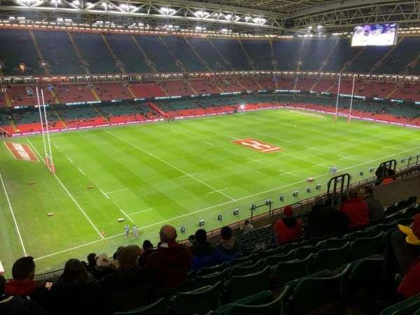 Principality Stadium, section: U34, row: 15, seat: 10