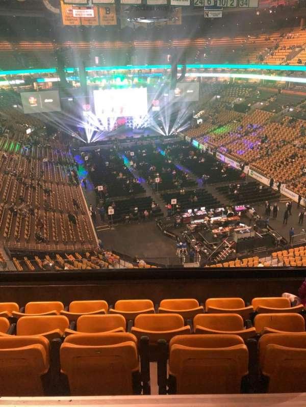 TD Garden, section: Balcony 310, row: 5, seat: 7