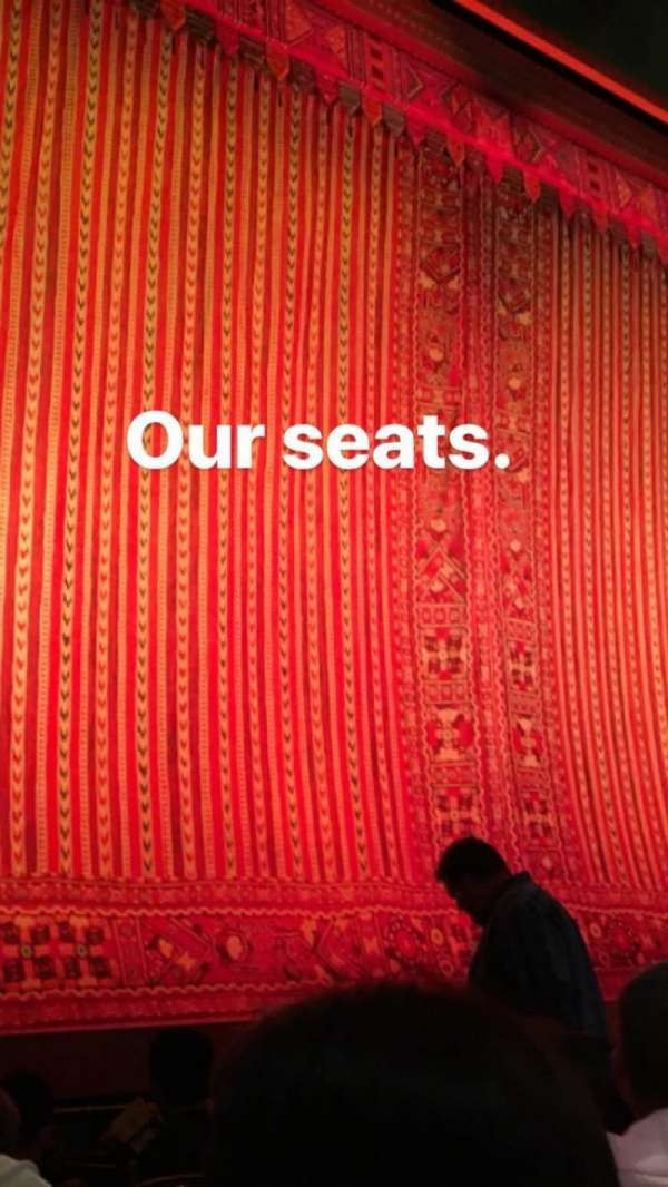 New Amsterdam Theatre, section: Orchestra, row: D, seat: Side