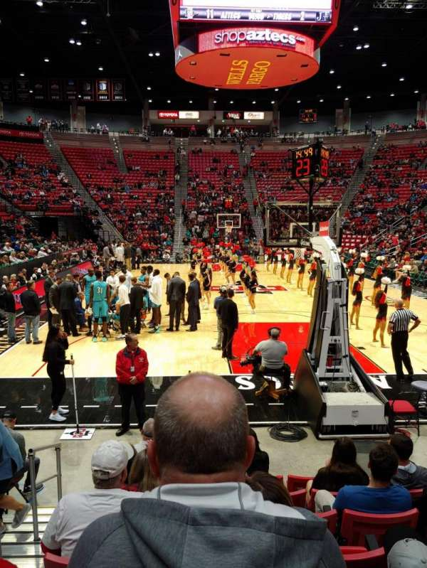 Viejas Arena, section: A, row: 7, seat: 13