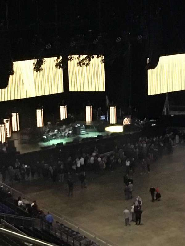 The O2 Arena, section: 406, row: F, seat: 596