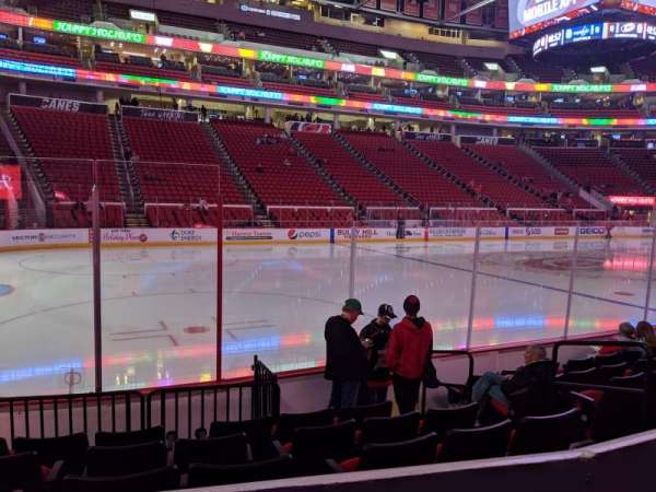 PNC Arena, section: 107, row: G, seat: 6