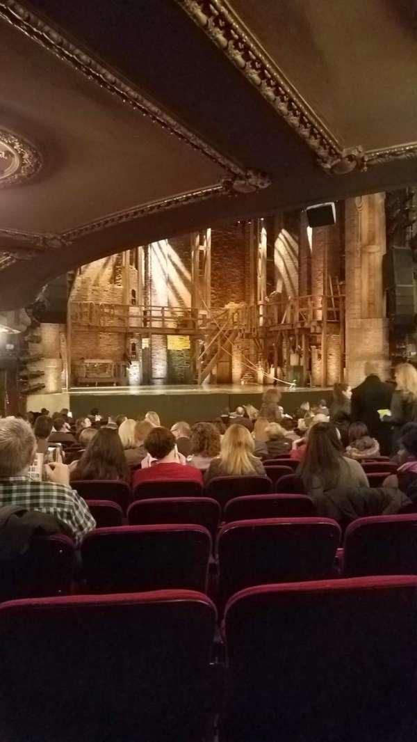 CIBC Theatre, section: Orchestra, row: U, seat: 13