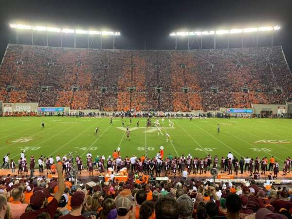 Lane Stadium, section: 10, row: BB, seat: 26