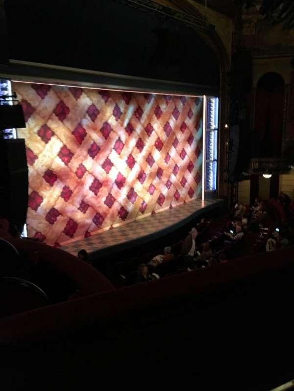 Brooks Atkinson Theatre, section: Mezzanine, row: B, seat: 25