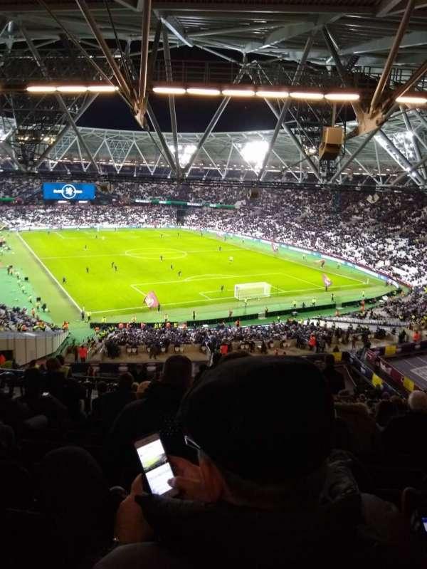 London Stadium, section: 218, row: 65