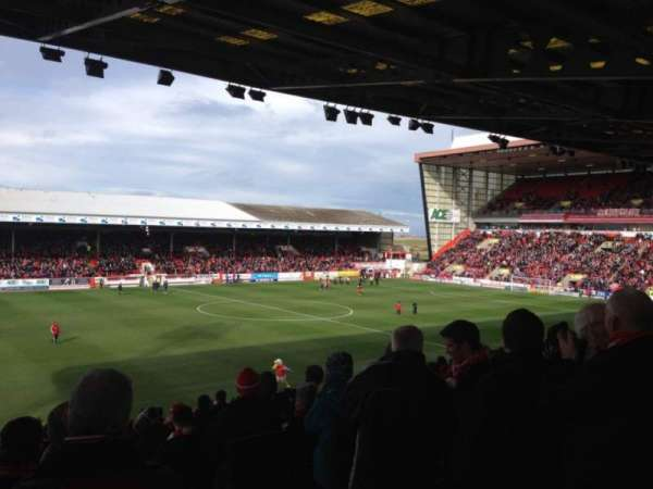 Pittodrie Stadium, section: South Stand W