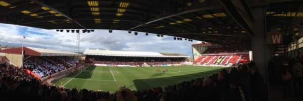 Pittodrie Stadium, section: South Stand