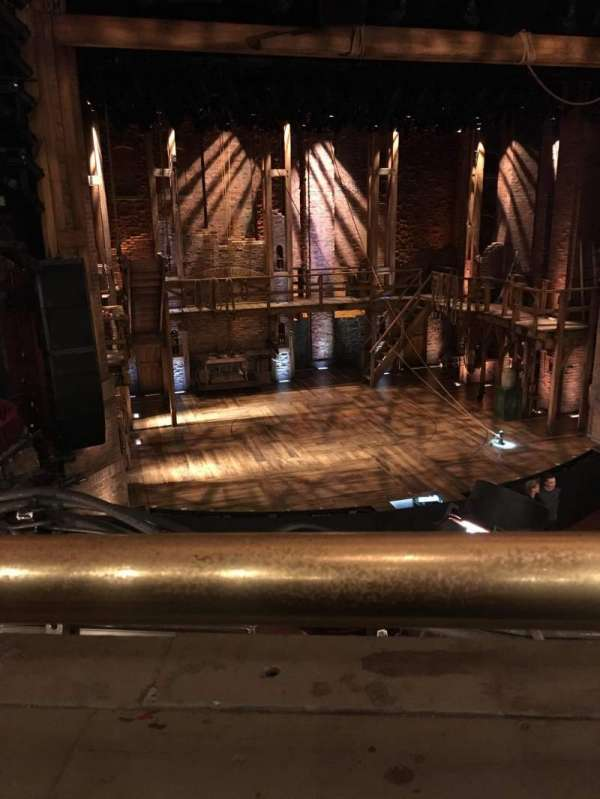 CIBC Theatre, section: Mezzanine Left Center, row: A, seat: 321