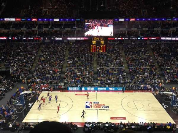 The O2 Arena, section: 403, row: B, seat: 520