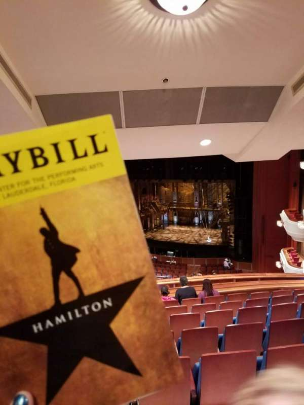 Au-Rene Theatre at the Broward Center, section: MEZR, row: K, seat: 14