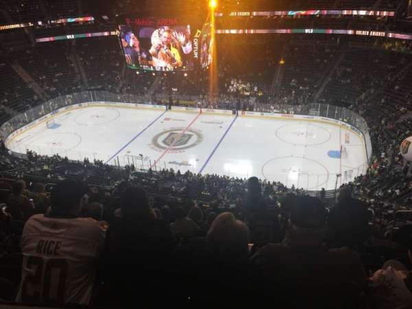 T-Mobile Arena, section: 225, row: Tt, seat: 8