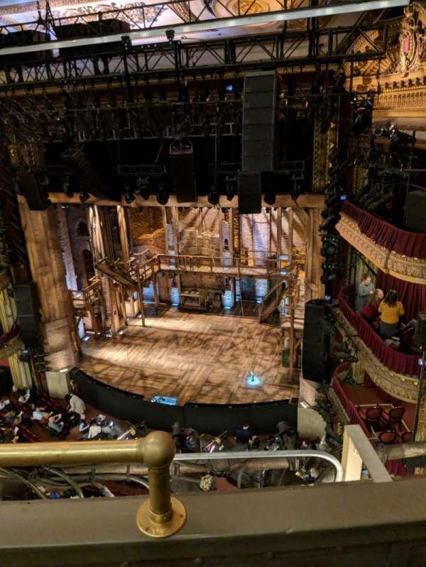 CIBC Theatre, section: Balcony R, row: B, seat: 2