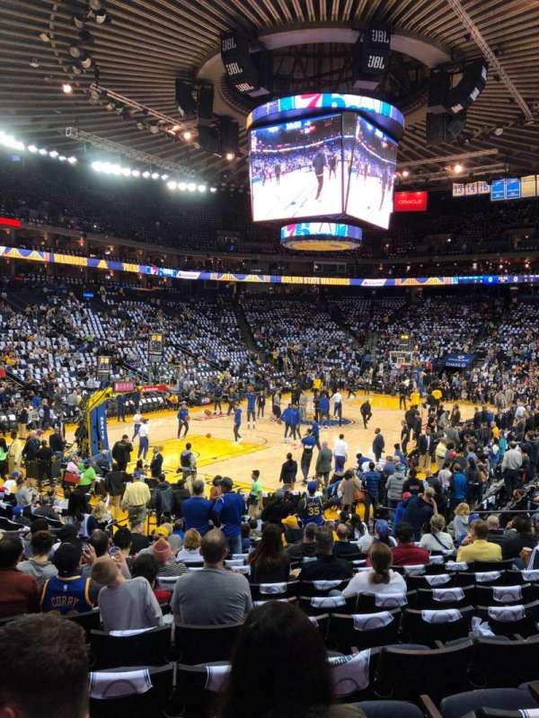 Oracle Arena, section: 105, row: 14, seat: 18