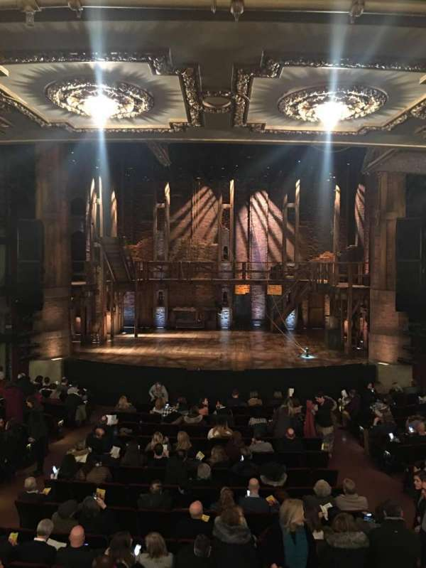 CIBC Theatre, section: Dress circle center, row: A, seat: 207