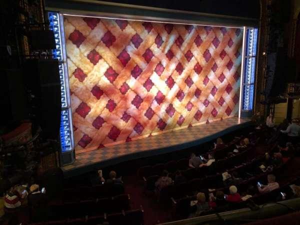 Brooks Atkinson Theatre, section: Front Mezzanine, row: A, seat: 15