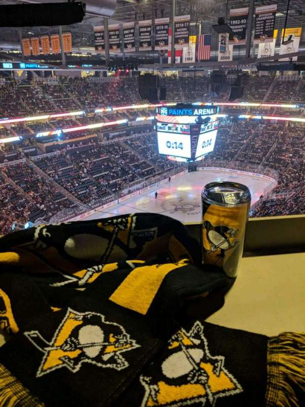 PPG Paints Arena, section: 208, row: EDG, seat: 6