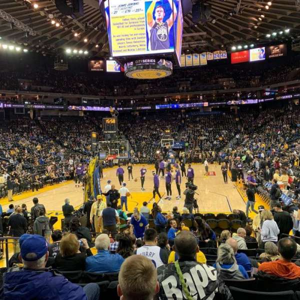 Oracle Arena, section: 107, row: 7, seat: 10