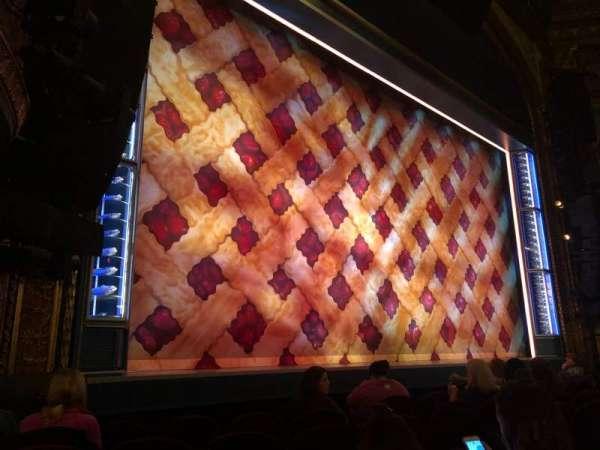 Brooks Atkinson Theatre, section: Orchestra L, row: E, seat: 13