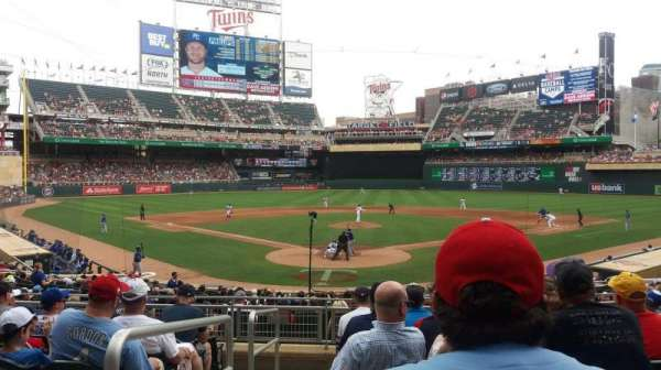Target Field, section: 113, row: 8, seat: 8