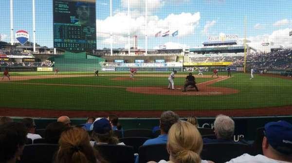 Kauffman Stadium, section: 126, row: A