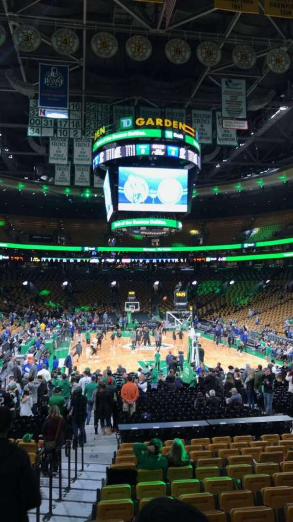 TD Garden, section: Loge 18, row: 14, seat: 13