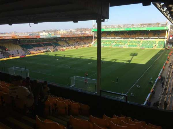 Carrow Road, section: OU, row: H, seat: 72