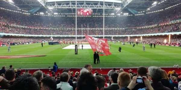 Principality stadium, section: 340, row: 15, seat: 25