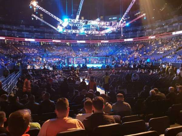The O2 Arena, section: 115, row: C, seat: 452