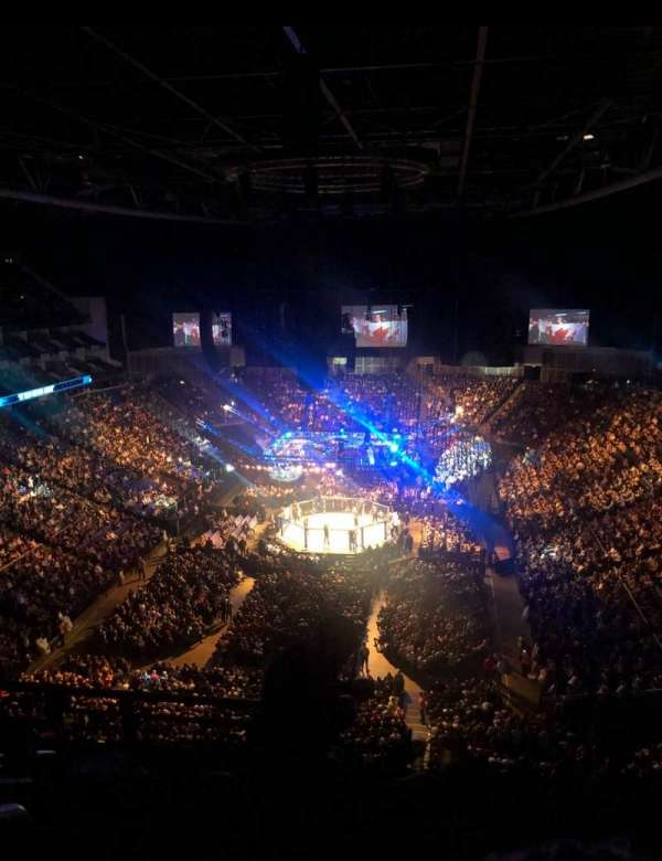 The O2 Arena, section: 412, row: G, seat: 736